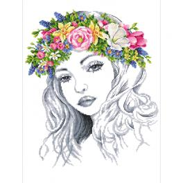 GC 10265 Cross stitch pattern - Spring lady