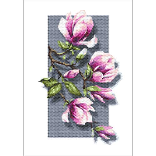 GC 10418 Cross stitch pattern - Magnolias 3D