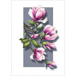 ZN 10418 Kit with tapestry and mouline - Magnolias 3D
