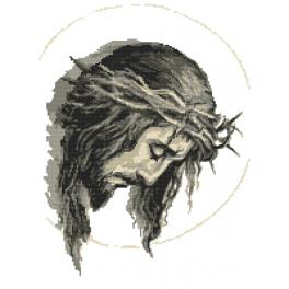 GC 10428 Cross stitch pattern - Jesus with a crown of thorns