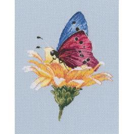Cross stitch kit - Butterfly on the flower