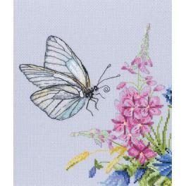 Cross stitch kit - Cabbage butterfly