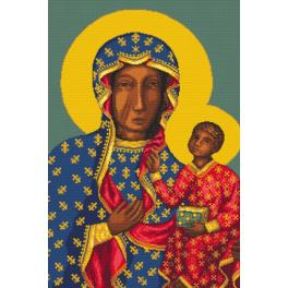 Set with tapestry and mouline - The Holy Virgin of Czestochowa