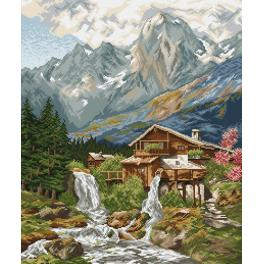 Kit with tapestry and mouline - Waterfall