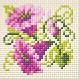 RIO AM0030 Diamond painting kit - Purple bindweed