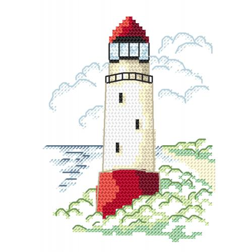 Z 8653-01 Cross stitch kit - Landscape with sea light I