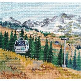 Cross stitch kit - Mount Chimbulak