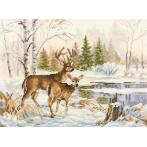 Cross stitch kit - At the forest lake
