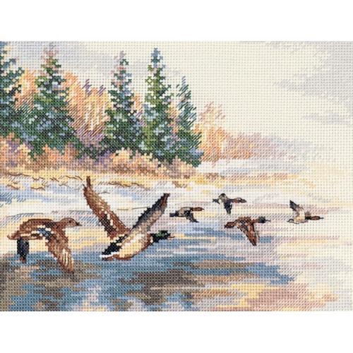 Cross stitch kit - Flying ducks