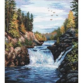 OV 560 Cross stitch kit - Kivach falls
