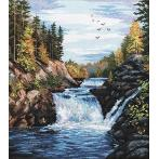 Cross stitch kit - Kivach falls