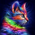 Diamond painting kit - Colourful kitten