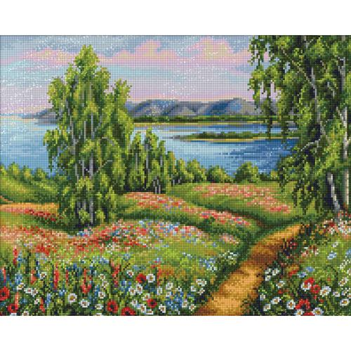 Diamond painting kit - Blooming field