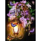 Diamond painting kit - Lantern and lilac