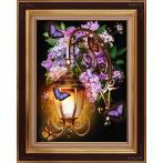 Diamond painting kit - Lantern and lilac