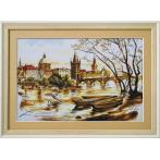 NCP 2225 Kit with mouline and printed background - Prague. The Charles Bridge