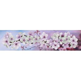 NCP 6232 Kit with mouline and printed background - Spring bloom
