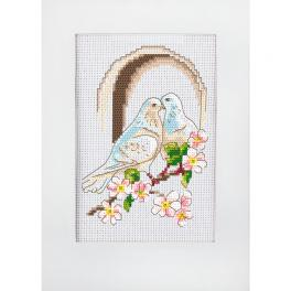 W 10278 Pattern ONLINE pdf - Wedding card - Doves