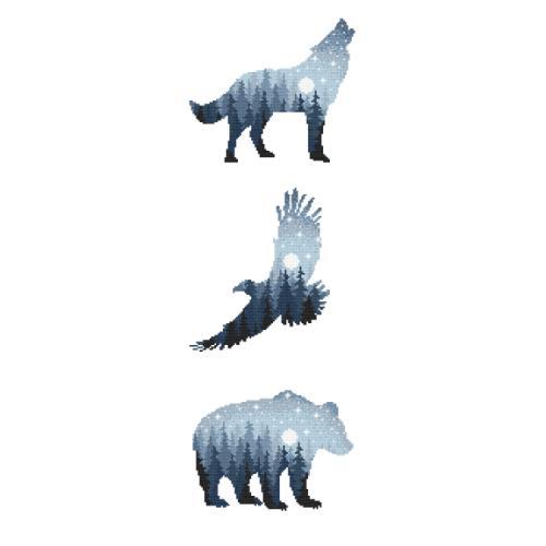 W 10274 Pattern ONLINE pdf - Forest animals