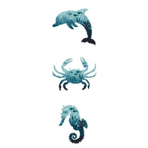AN 10276 Tapestry aida - Sea animals