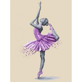 ZI 10269 Cross stitch kit with mouline and beads - Ballet dancer - Magic of dance
