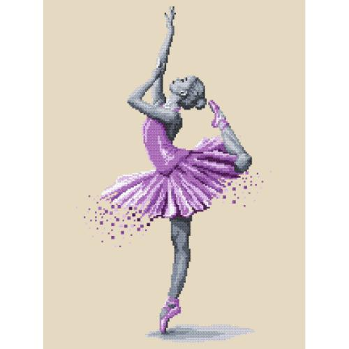 Cross stitch kit with beads - Ballet dancer - Magic of dance