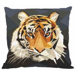 W 10618-01 ONLINE pattern pdf - Pillow - Mosaic tiger