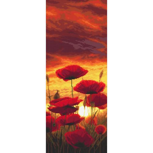 GC 10619 Cross stitch pattern - Sunset with poppies