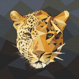 Cross stitch kit - Mosaic panther