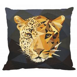 W 10621-01 ONLINE pattern pdf - Pillow - Mosaic panther