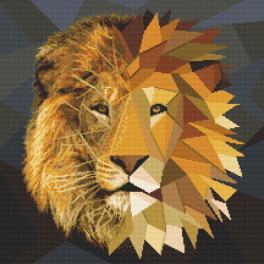 Cross stitch pattern - Mosaic lion