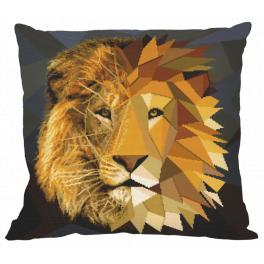 W 10620-01 ONLINE pattern pdf - Pillow - Mosaic lion