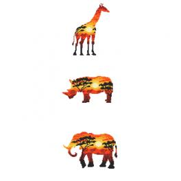 Graphic pattern - African animals