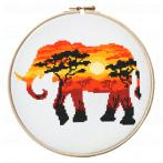 ZN 10275 Kit with tapestry and mouline - African animals