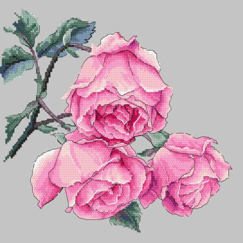 GC 10270 Cross stitch pattern - Rose twig