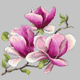 Kit with tapestry and mouline - Fragrant magnolia
