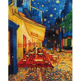 DD10.005 Diamond painting kit - Cafe at night - V. van Gogh