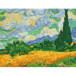 DD9.024 Diamond painting kit - Wheat fields - V. van Gogh