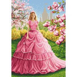 AN 10622 Tapestry aida - Magnolia lady