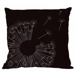Cross stitch pattern - Pillow with dandelion III