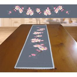 Cross stitch kit - Long table runner with apple twig
