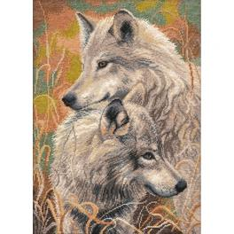 Cross stitch kit - Wolfish faith