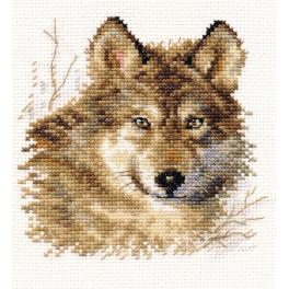 ALI 1-27 Cross stitch kit - Wolf