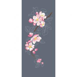 GC 10420 Cross stitch pattern - Apple blossom twig