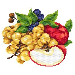 AN 8261 Apples with grapes - Tapestry aida