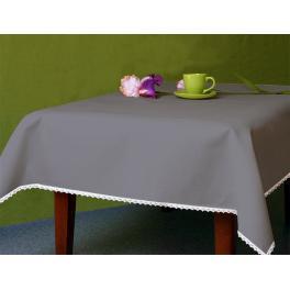982-11 Tablecloth Aida 110x160 cm (1,2x1,7 yd) graphite