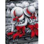 M AZ-1614 Diamond painting kit - Sisters