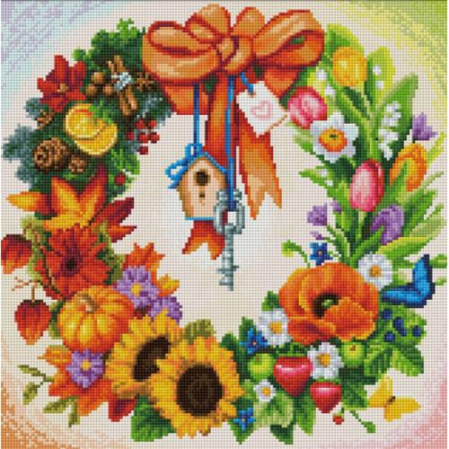 Diamond painting kit - Wreath
