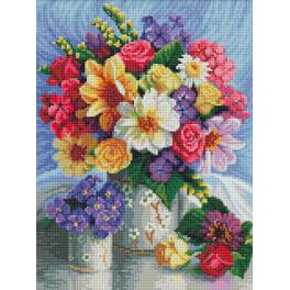 M AZ-1623 Diamond painting kit - Bright flowers