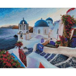 Diamond painting kit - Santorini evening